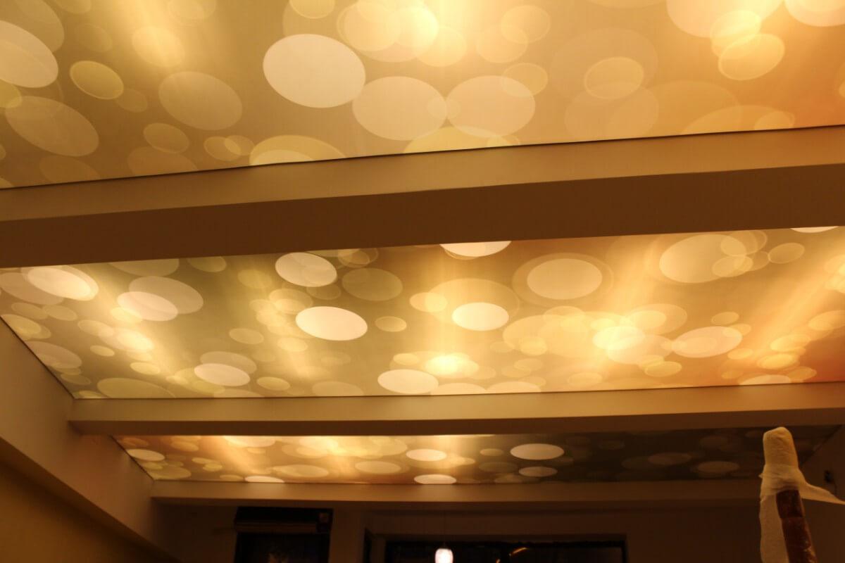 Restaurant MonParis Bucuresti tavan extensibil imprimat